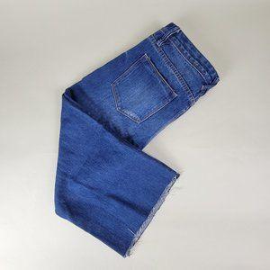 ZARA TRAFALUC Collection Denim Wide-Leg Cropped Jean size 6